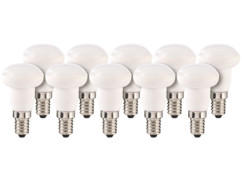 10 ampoules LED en céramique, 4 W, E14 - Blanc Chaud