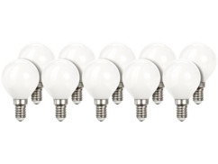 10 ampoules LED look ''Retro'' - E14 - Blanc Chaud