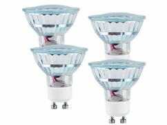 4 Ampoules LED GU10 blanc chaud 1,5W