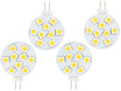 4 ampoules LED SMD à culot G4 - Neutre - 1,8 W