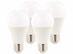 4 ampoules LED supra-puissante 12 W, culot E27, blanc chaud