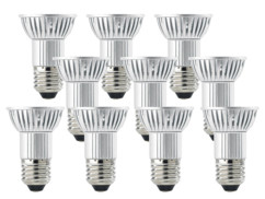 10 ampoules 24 LED SMD E27 blanc chaud