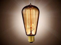 Ampoule à filament, look rétro XL - forme Cône filaments droits