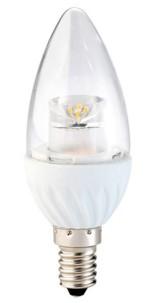 Ampoule LED ovale 4 W - E14 - Blanc