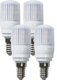 Lot de 4 ampoules compactes LED 3,5 W avec éclairage 360° - E14 - Blanc chaud