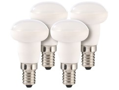 Lot de 4 ampoules LED en céramique, 4 W, E14 - Blanc chaud