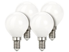 Lot de 4 ampoules LED look ''Retro'' - E14 - Blanc chaud