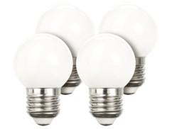 Lot de 4 ampoules LED look ''Retro'' - E27 - Blanc chaud