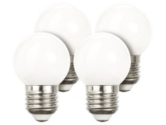 Lot de 4 ampoules LED look ''Retro'' - E27 - Blanc