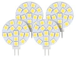 Lot de 4 ampoules LED SMD à culot G4 - Blanc - 3 W