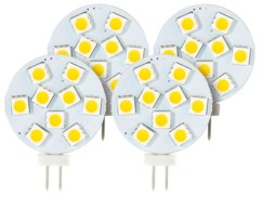 Lot de 4 ampoules LED SMD à culot G4 - Neutre - 1,8 W