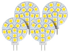 Lot de 4 ampoules LED SMD à culot G4 - Neutre - 3 W