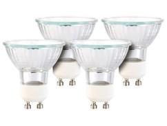 Lot de 4 réflecteurs halogènes dimmables - GU10 - 42 W - Blanc chaud