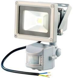 Projecteur étanche à LED avec capteur PIR - 30 W blanc chaud