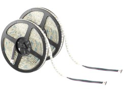 2 bandes lumineuses 300 LED SMD (RVB + blanc), 5 m ''LX-500A'' - extérieur