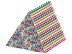 200bâtonnets de colle Ø11mm pour pistolet à colle - Multicolores à paillettes