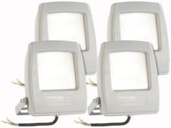 4 projecteurs LED pour extérieur - 10 W - Blanc