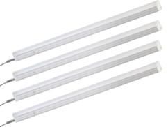 4 tubes luminescents T5 à LED, 60 cm, avec câbles de raccordement