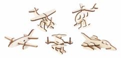 5 maquettes 3D en bois : mini-aéronefs - 33 pièces