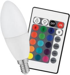 Ampoule bougie à LED COB RVB avec télécommande - 3W