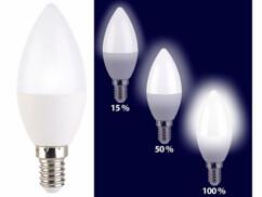 Ampoule bougie à LED E14 / 5 W / 470 lm à 3 niveaux d'intensité - Blanc Jour