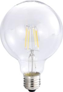 Ampoule Globe LED à filament A++, E27, 6 W, 600 lm, 360°, Blanc Chaud