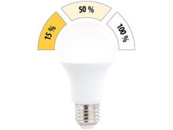 Ampoule LED E27 / 14 W / 1400 lm à 3 niveaux de luminosité - blanc chaud