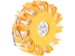 Avertisseur de danger magnétique à LED - Jaune