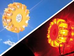 4 avertisseurs de danger magnétiques à LED - Jaune