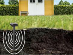 chasse taupe solaire avec piquet pour jardin repousse les taupes par ultrason