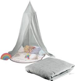 Ciel de lit pliable pour enfants gris foncé