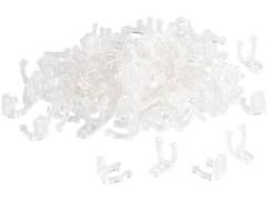 Clips de fixation pour guirlandes LED Lunartec (x100)