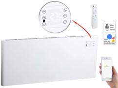 radiateur electrique 2000w avec thermostat télécommande et commande wifi a dispace avec application elesion EHZ-2000