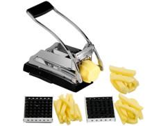 Coupe-frites professionnel avec 3grilles et pied à ventouse