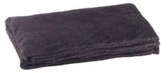 couverture en microfibre noir 200 cm en polyester wilson gabor