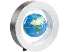 Globe terrestre 10cm en lévitation avec anneau magnétique à éclairage LED multicolore