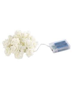 Guirlande d'intérieur 'roses lumineuses' à 20 LED blanc chaud 1,9 m