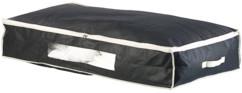Housse de rangement 86 L pour dessous de lit avec fenêtre transparente - Noir