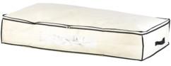 Housse de rangement en intissé pour habits et linge sous le lit capacité 86 litres