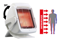 Lampe infrarouge avec plaque vitrocéramique, 200 W