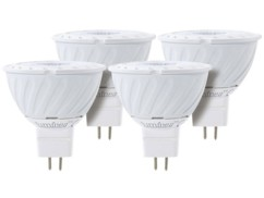 Lot de 4 spots à LED COB GU 5.3 - Blanc chaud - High Power