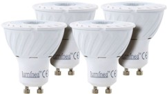 Lot de 4 spots à LED COB GU10 - Blanc - High Power