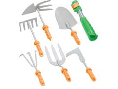 Manche à outils avec 6 ustensiles de jardinage