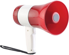 megaphone 20W avec enregistreur vocal lecteur mp3 sd usb batterie usb infactory longue portee 500m volume réglable