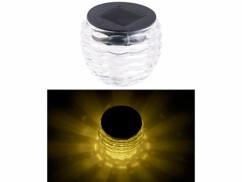"""Photophore en verre à LED à alimentation solaire, Ø 8 cm """"Liora"""""""