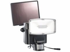 Projecteur à LED avec détecteur de mouvement et module solaire, IP44 - Noir
