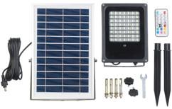Projecteur extérieur solaire à LED RVBB 30W, avec télécommande