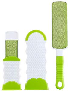 pack de 2 brosses anti peluches cheveux poils avec fourreaux nettoyage facile format compact pour sac