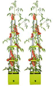 Set de 2 pots de fleur à étages avec réservoir 2,5 L