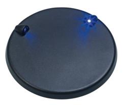 Socle lumineux Ø 9,5cm avec 2LED bleues pour modèles réduits